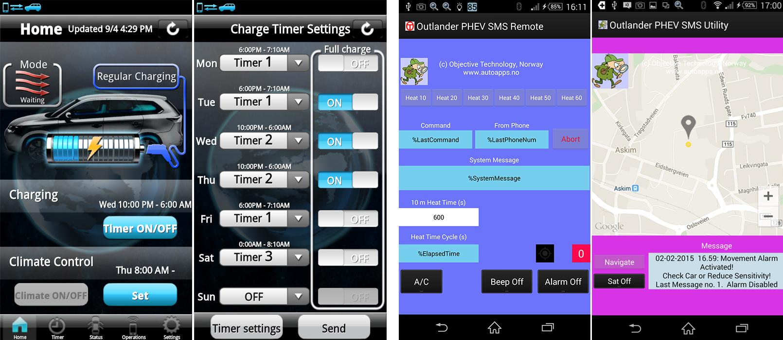 Outlander SMS remote Outlander remote app